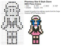Dork Stitch: Sprite Pattern December Day 19: Dawn/Hikari