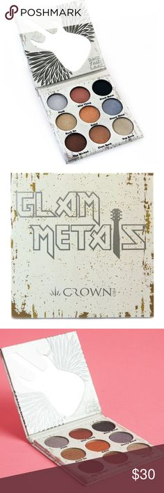 Crown Pro Glam Metals Palette High pigment ultra blendable shadows. Smoky eyes are a breeze! NWT! Purchased from distributor. Crown Pro Makeup Eyeshadow