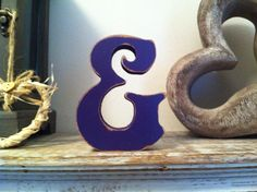 Freestanding Wooden Wedding Letter '&' - Di... - Folksy loads of different colours and shapes