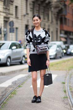 street style: Milan Fashion Week Spring 2015... @gtl_clothing #getthelook http://gtl.clothing