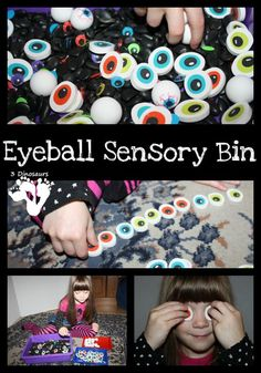 Eyeball Sensory Bin: Great Halloween Theme - 3Dinosaurs.com
