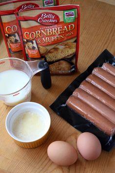 Corn Dog Muffins  http://www.bettycrocker.com/tips/tipslibrary/baking-tips/corn-dog-muffins