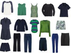 Chic Sightings: Navy and Green | capsule wardrobe