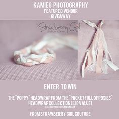 Awesome Tie Back hosted by Kamieo Photography given by Strawberry Girl Couture.