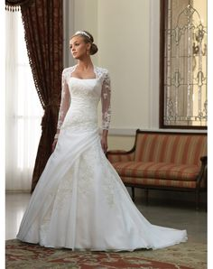The Noble Satin Strapless Chapel Train Pleats A-line Wedding Dress Canada--Shop for High-Quality Wedding Dresses