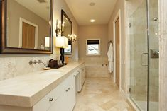 crema marfil bathroom - Google Search