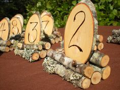 Wood Wedding Table Numbers Rustic Wedding 18 by aTwistOfNature, $80.00