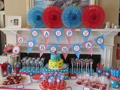 elmo birthday table - Google Search