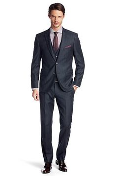 all black Groom And Groomsmen Outfits, Groom Suits, Groom Wear, Fashion Suits, Mens Fashion, Three Piece Suit, Grey Shirt, Smart Casual, Wedding Suits