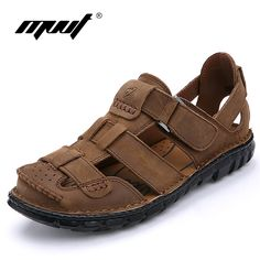 7eebe4e57 Men s Shoes · 2017 Genuine leather sandals men brand quality men s sandals  cofmort cool summer sandals comfort soft leather