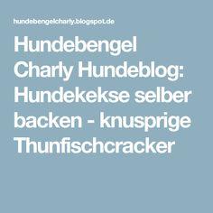 Hundebengel Charly Hundeblog: Hundekekse selber backen - knusprige Thunfischcracker