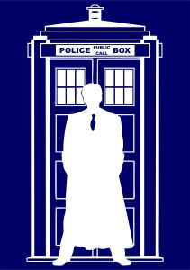 Doctor Who Silhouette Tardis | Die Cut Vinyl Sticker Decal | Sticky Addiction