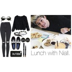 Lunch with Niall. by ohcmonitsjustme on Polyvore featuring moda, Chicwish, Topshop and Keds
