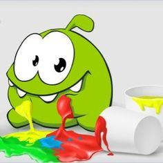 Messy Om Nom! #cuttherope #omnom #cute #green #little #monster #love #yummy #candy #sweets #playing #play #mobile #game #games #phone #fun #game #happy #funny #face #eyes #smile #nice http://cuttherope.net