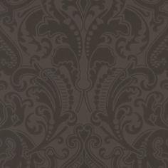 Ralph Lauren GWYNNE DAMASK JET Wallpaper
