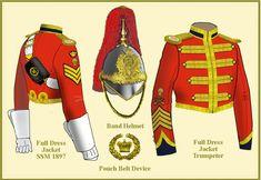The Lothian and Berwickshire Yeomanry, Uniform details, 1896 Military Insignia, Military Art, Military History, British Army Uniform, British Uniforms, English Army, Uniform Design, Military Uniforms, Volunteers