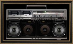 A TOUCH OF BASS – A BOOM BOX FOR YOUR WALL