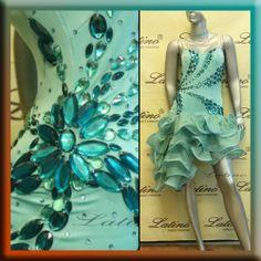 LATIN SALSA (BALLROOM) COMPETITION DRESS SIZE S, M, L (LT600) 2014