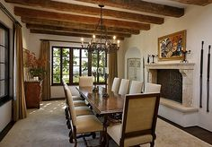 Spanish Hacienda Style Living Room