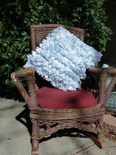 Ruffle pillow WITH vintage sheets!