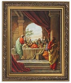 the last supper of jesus christ in ornate gold frame lultima cena church home