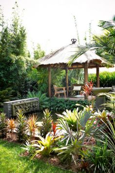 The koi pond is filtered by plants and topped up with solar-powered tank. A beautiful garden in Bali. Bali Garden, Balinese Garden, Garden Pond, Garden Oasis, Ponds Backyard, Backyard Pergola, Koi Ponds, Backyard Ideas, Pool Gazebo