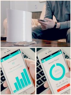 The kSafe is a smartphone controlled safe that only opens (with a reward inside) when you reach fitness goals that you set.