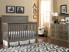 Fisher-Price®     Quinn Collection Convertible Crib - Vintage Grey