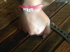 HIV/AIDS Awareness Loom Rubber Band Bracelet GREAT Gift