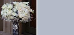 jasmine_star_white and grey bouquet   I like broach on stems