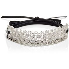 Fallon Monarch Chantilly Wrap Choker (2.110 BRL) ❤ liked on Polyvore featuring jewelry, necklaces, silver, choker necklace, wrap around choker necklace, wrap necklace, wrap around necklace and fallon jewelry