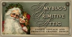 Vintage Santa Claus and Litle Girl design by Amybug's Attic, unique vintage and primitive graphic design ~ www.amybug.com ~ eBay auction templates, Facebook and Etsy banners, picture trail templates, blog templates, website graphics, and more! Designs for all seasons,  including fall / autumn, halloween, thanksgiving, winter, Christmas, Valentine's day,  spring / summer, patriotic / Americana, Easter, St. Patrick's day, and of course, designs for everyday :)