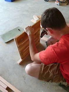 Pretty Front Porch: DIY Large Cedar Planter Boxes – Engineering A Home Diy Wooden Planters, Outdoor Planter Boxes, Planter Box Plans, Tree Planters, Cedar Planter Box, Garden Planter Boxes, Window Planters, Garden Table, Outdoor Wood Projects