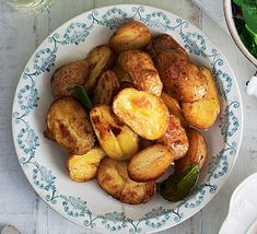 Brown butter new potatoes. Roast your new season baby potatoes with golden butter until crisp. Flavour with bay leaves and serve as an accompaniment