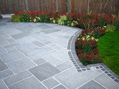 Shed DIY - driveway paving ideas (cheap paving ideas) Tags: paving ideas, garden paving ideas, driveway paving ideas Now You Can Build ANY Shed In A Weekend Even If You've Zero Woodworking Experience! Patio Slabs, Flagstone Patio, Backyard Patio, Backyard Landscaping, Patio Stone, Paver Edging, Paver Sand, Grey Pavers, Patio Tiles