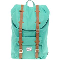 Herschel Little America Mid-Volume Backpack ($136) ❤ liked on Polyvore featuring bags, backpacks, backpack, rucksack bags, blue backpack, herschel, herschel bag and herschel backpack