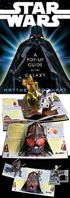 Star Wars :: A Pop-Up Guide to the Galaxy >>> lots of fun for me and my kid.. included major pop-up with minor side tab pop-ups.  Lots of detail.