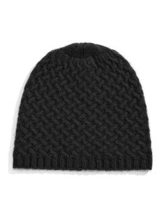 Jewellery & Accessories   Scarves, Gloves & Hats   Cashmere Basketweave Tuque   Hudson's Bay