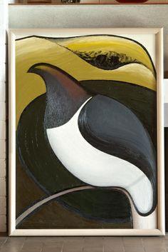 Don Binney, Pigeon, oil on board Bird Artists, New Zealand Art, Nz Art, Maori Art, Artist At Work, Art Boards, Art Images, Landscape Paintings, Book Art