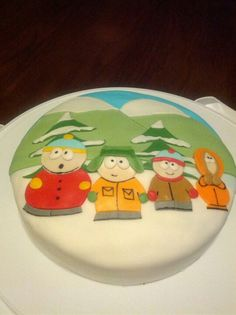 South Park cake that Jenna made for Evan