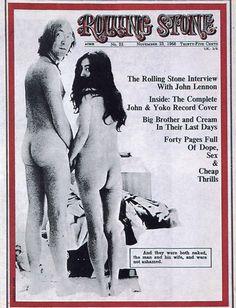 John Lennon et Yoko Ono, nus et de dos. C'était le 23 novembre 1968, en couverture de Rolling Stone.