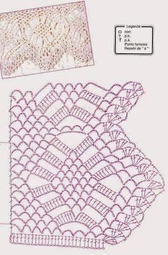 Tina's handicraft : 160 designs & pattern for trimmings Crochet Boarders, Crochet Lace Edging, Basic Crochet Stitches, Crochet Art, Thread Crochet, Filet Crochet, Crochet Patterns, Crochet Necklace Pattern, Christmas Knitting