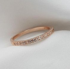 Promise Ring Rose Gold Plated Crystals Studded, USD17.99 Before Discount, FREE Shipping, FREE Returns