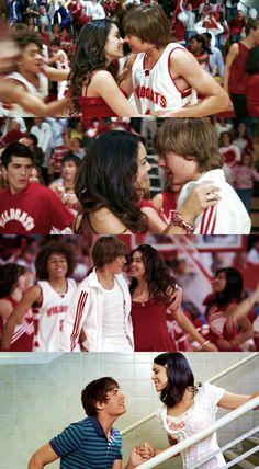Troy and Gabriella High School Musical High School Musical Quotes, Hight School Musical, Gabriella High School Musical, Troy Bolton, Hig School, Zac Efron And Vanessa, Troy And Gabriella, Old Disney Channel, New Groove