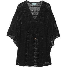 Melissa Odabash Keli crochet-knit coverup (€140) ❤ liked on Polyvore featuring swimwear, cover-ups, black, swim cover up, crochet swimwear, cover up swimwear, melissa odabash and knit swimwear
