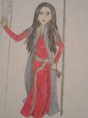 An elven magician named Morwen. Her name means Dark Maiden in Elvish, and Morning in Old English.