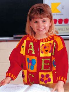 free pattern...Your little one will feel extra special going off to school zipped into her ABCs. Size: Child's 6(8)(10). Skill Level: Intermediate