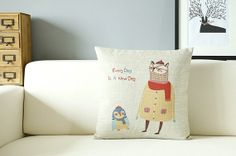 cartoon pillow cover word Housewares Pillow Pillow by SweetyFairy