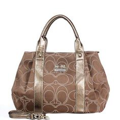 High Quality Coach Madison Logo Signature Medium Brown Satchels DQK Is The Symbol Of The Top Social Status!