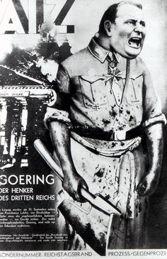 John Heartfield, GOERING THE EXECUTIONER OF THE THIRD REICH September 14th cover of AIZ, 1933